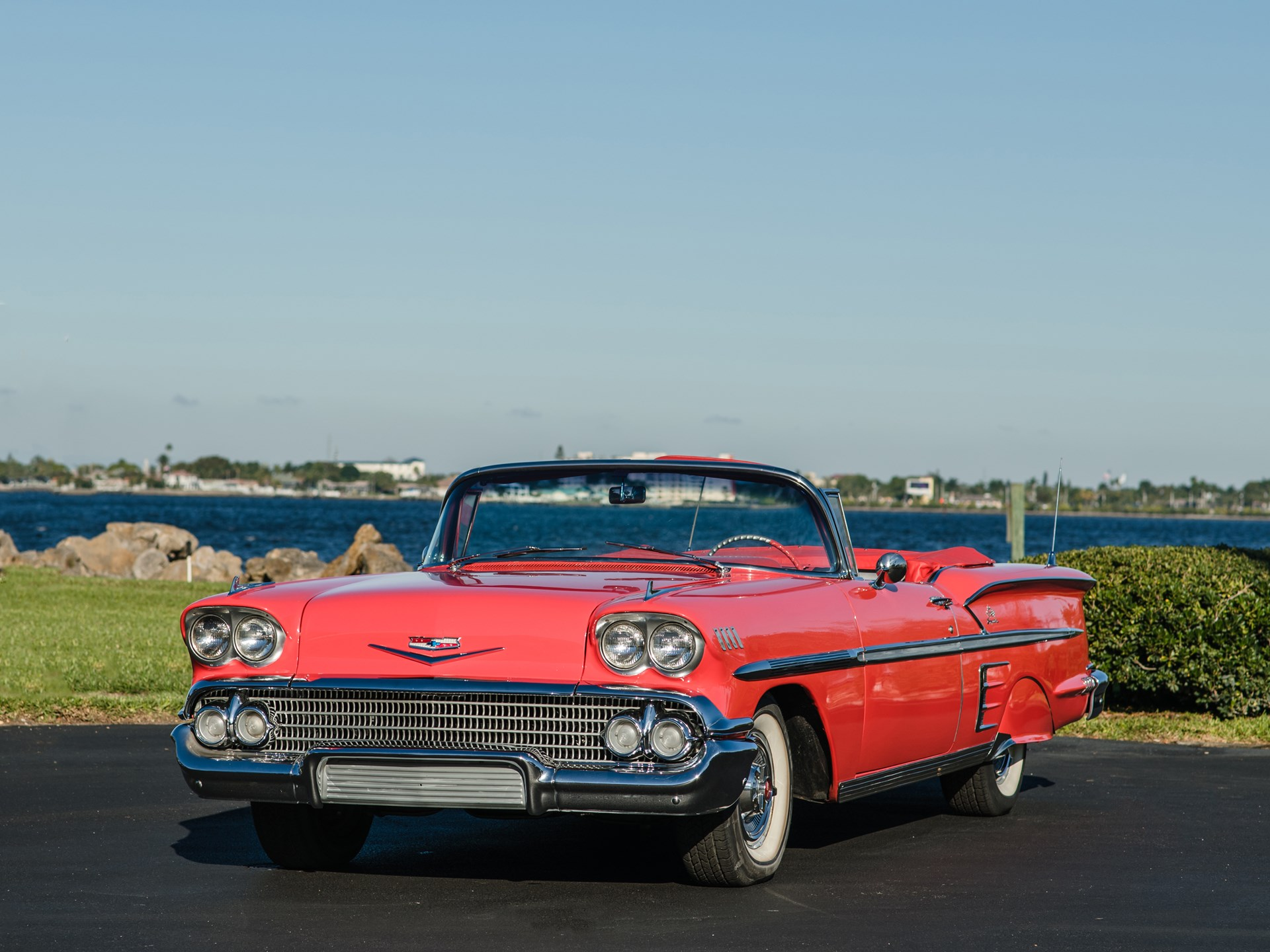 1958 Chevrolet Impala Convertible sold for $63,800