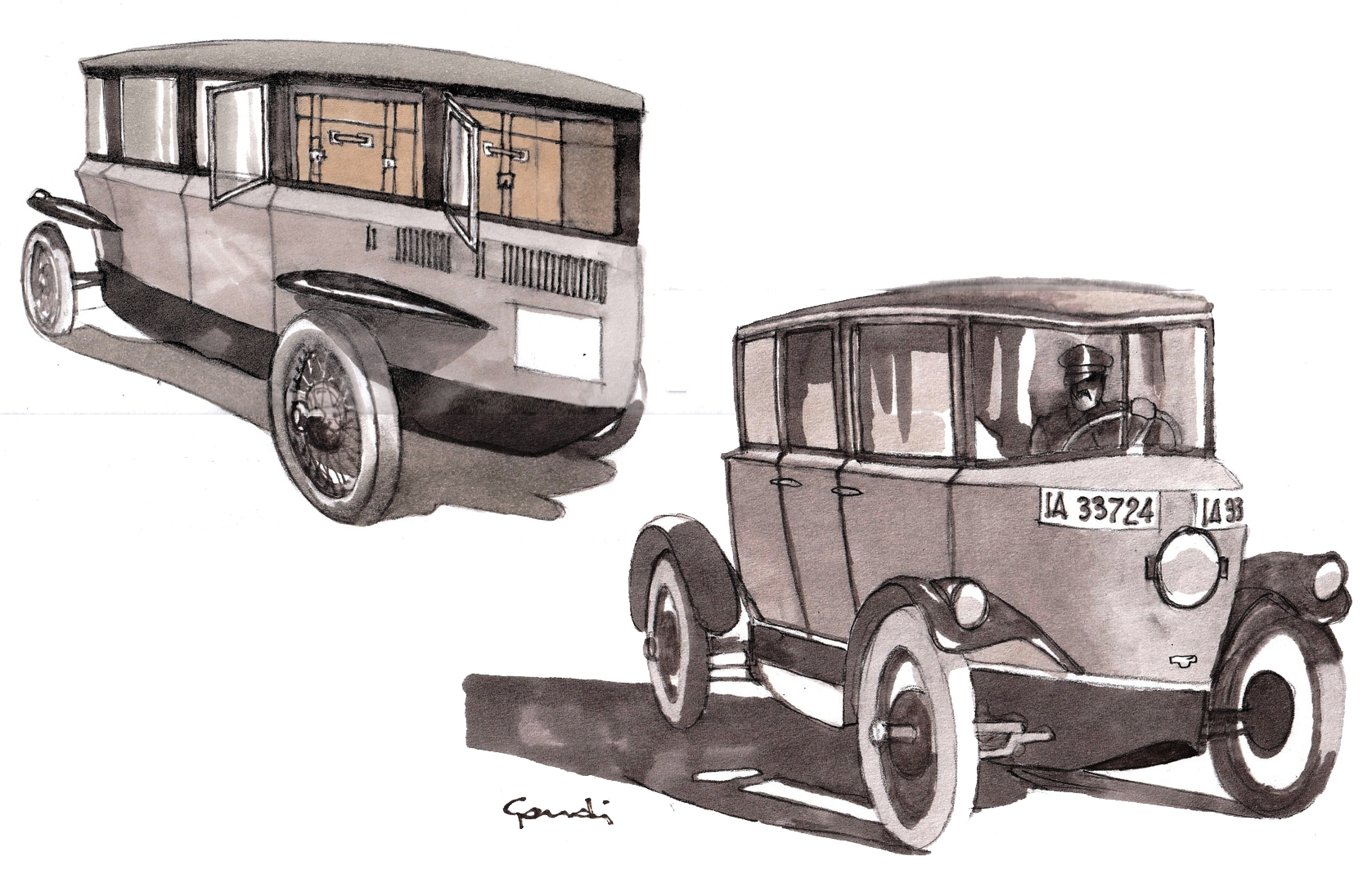 Curved window glass, perfectly tapered shape and disc wheels gave the Tropfenwagen a sporty character
