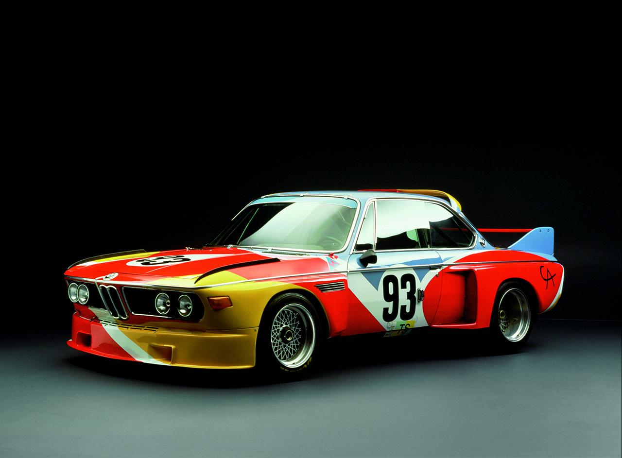 The 1975 BMW 3.0 CSL Art Car designed by Alexander Calder