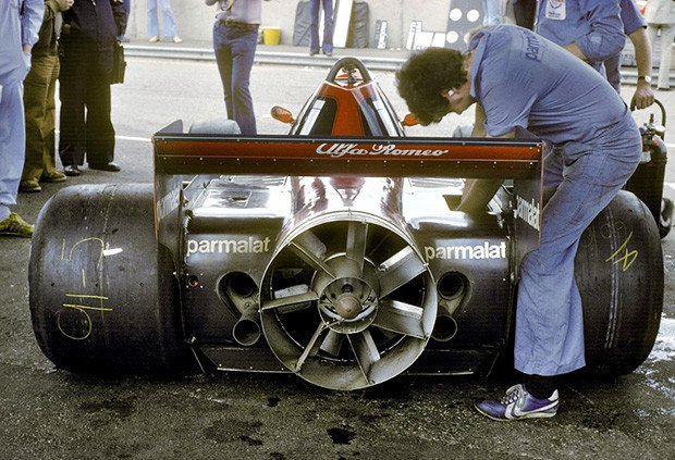 In 1978 Brabham proposed the mechanical extractor justifying it as a cooling fan. It won the Swedish GP with Lauda, but the solution was immediately banned due to the risk of debris firing into the cars behind