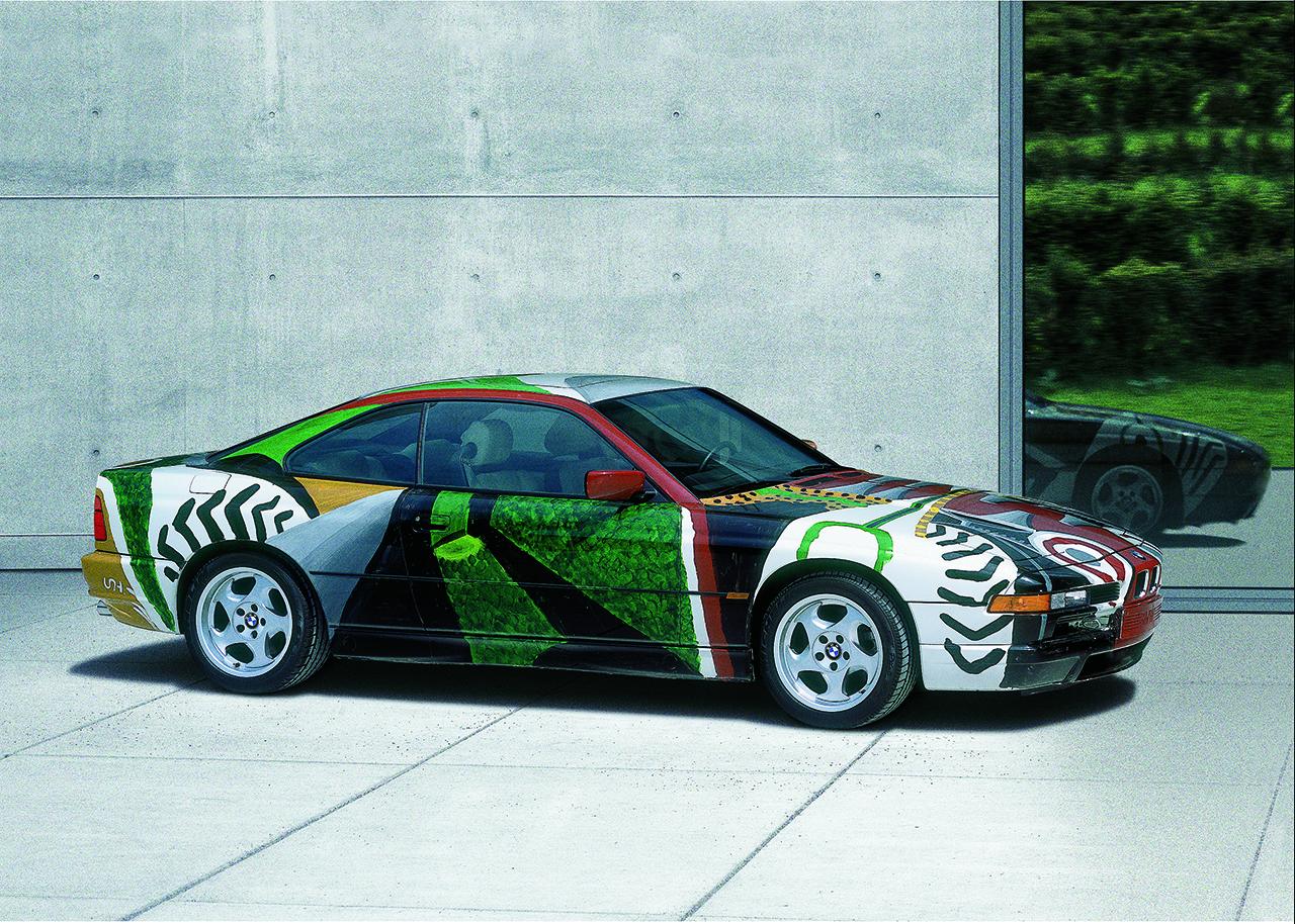 The 1995 BMW 850CSi Art Car designed by David Hockney