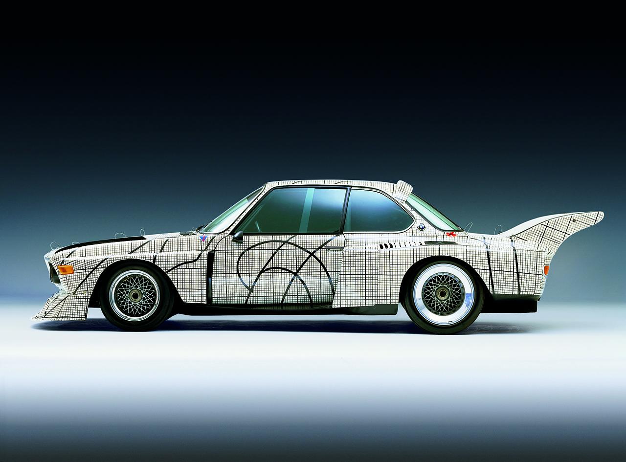 The 1976 BMW 3.0 CSL Art Car designed by Frank Stella