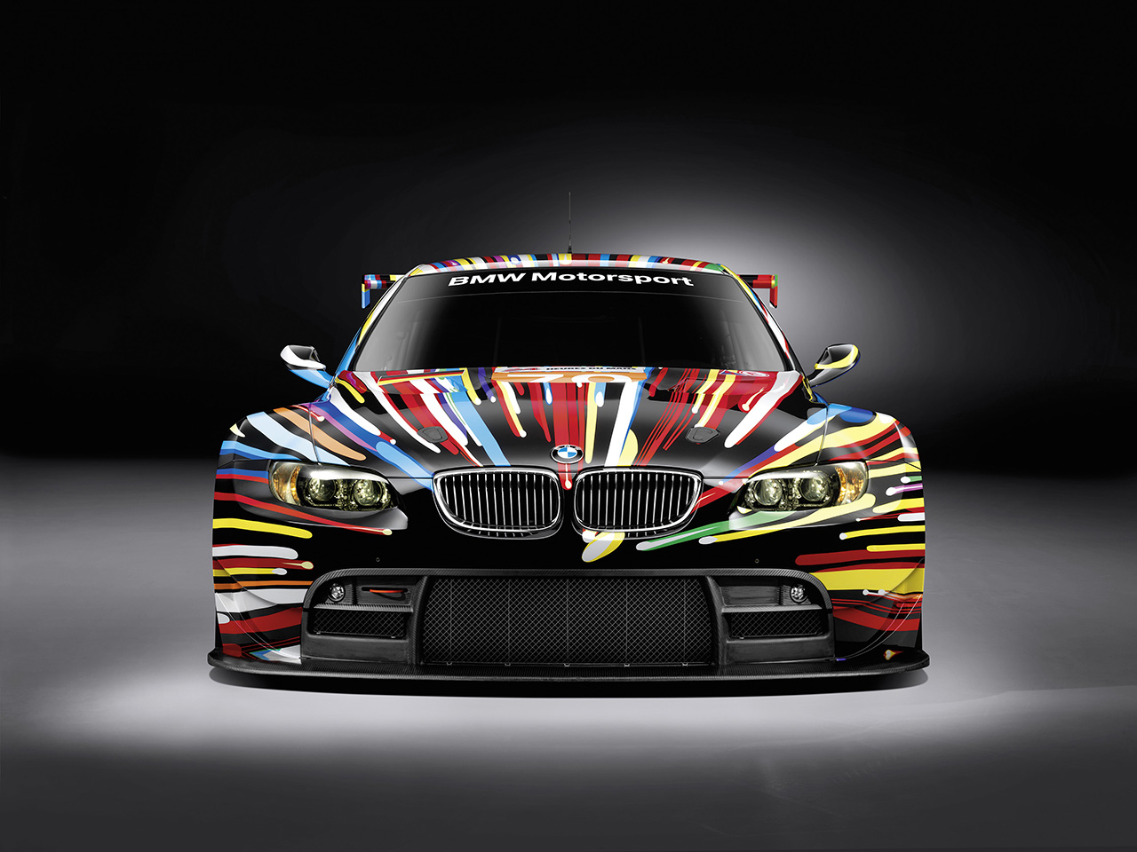 The 2010 BMW M3 GT2 Art Car designed by Jeff Koons