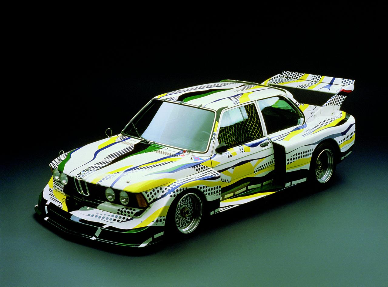 The 1977 BMW 320i Group 5 Art Car designed by Roy Lichtenstein