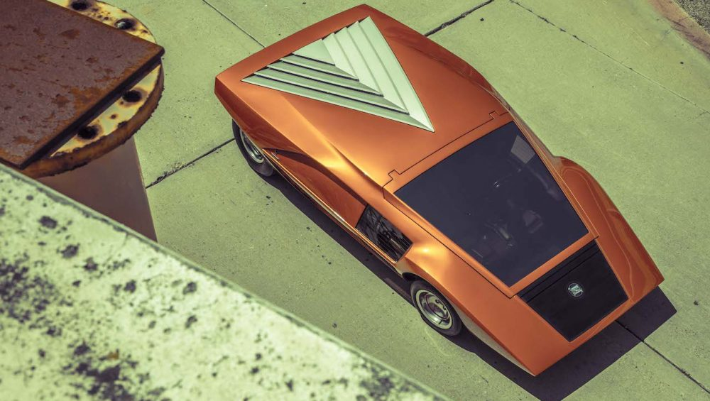 The Lancia Stratos HF Zero, a fully working concept car by Bertone