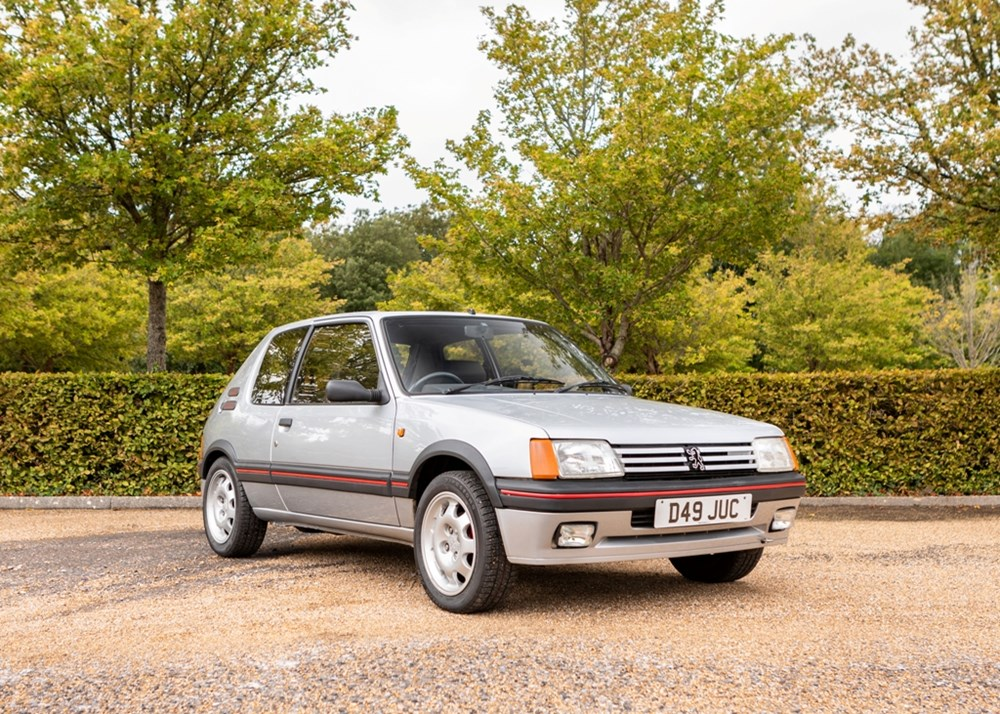 1987 Peugeot 205 GTi 1.9 Ex Sir Stirling Moss sold for £20,160