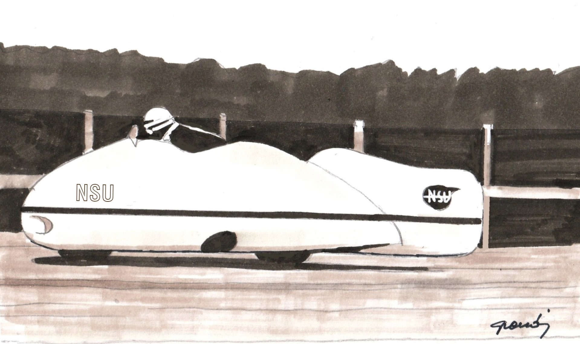 NSU Delphin 1 Streamliner,