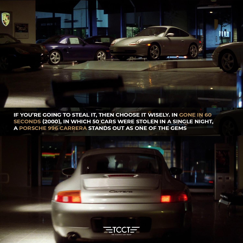 Gone in 60 seconds Porsche 996 Carrera